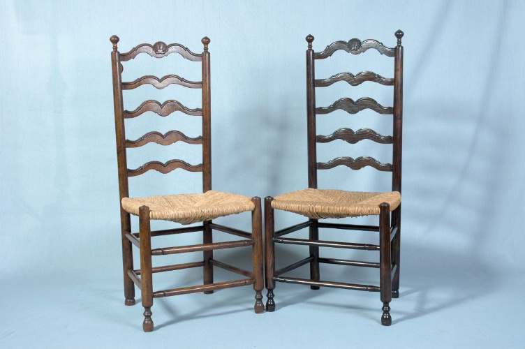 Ladder Back Chairs, Set of 6, France, 20th century