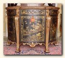 Regency Style Demi-Lune Chinoiserie Commode,  England, c.1825
